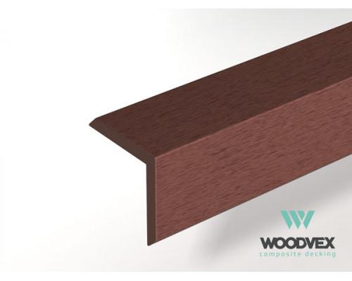 L-планка Select 2000х53х53 Темно-коричневый