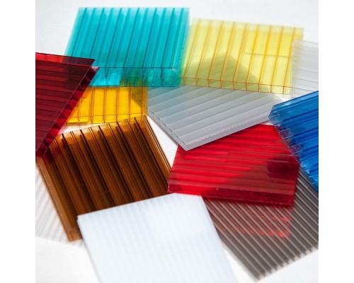 Сотовый поликарбонат Sotolight 10 мм Цветной