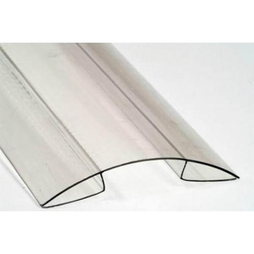 Коньковый профиль 6 мм для поликарбоната