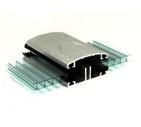 Профиль алюминиевый соединительный нижний для поликарбоната