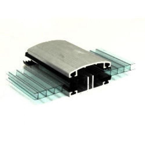 Профиль соединительный алюминиевый верхний для поликарбоната