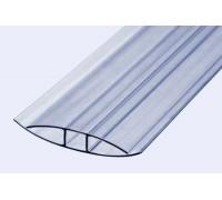 Профиль неразъёмный соединительный НР 6 мм для поликарбоната