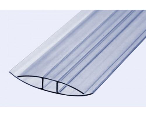Профиль неразъёмный соединительный НР 10 мм для поликарбоната