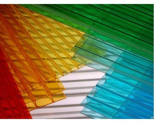 Сотовый поликарбонат NOVATTRO 10 мм (гранат, терракот, синий, белый, зелёный)